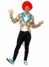 Clownjacke Harlequin Fool Colorful Clown Tailcoat With Plaid Costume Men's XL