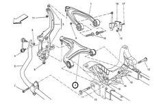 Maserati Ghibli Quattroporte Front Lower Control Arm Left Side