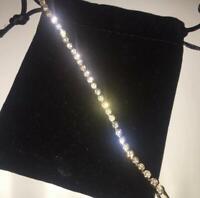 Womens Swarovski Elements Crystal Bracelet Bangle Gold Bargain New