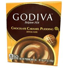 Godiva Chocolate Caramel Pudding - 1 Box - 3.7 oz - FAST SHIPPING