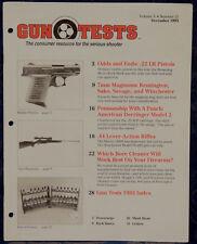 Magazine GUN TESTS December 1993 !!! SAKO TRG-S Model 995 Bolt-Action RIFLE !!!
