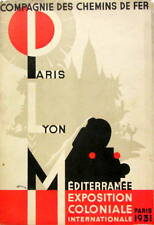 1931 COMPAGNIE DES CHEMINS DE FER PARIS LYON PLM EXPOSITION COLONIALE TRAIN