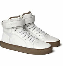 Yves Saint Laurent White Men's Leather High Top Sneakers Size 41