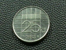 NETHERLANDS 25 Cents 1983