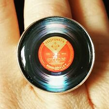 Esclusivo Anello Vinile Record musica dance dj vintage Groove Funk Club Retro Festival