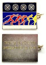 Medaglia Con Vernice Trofeo U. Lateltin Gressoney 1981 Metallo Argentato
