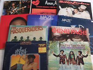 10 vinyles 33t Soul Funk Rick James / Maze / Gene Page / Millie Jackson ...