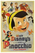 "WALT DISNEY'S PINOCCHIO MOVIE POSTER -  12"" X 18"""