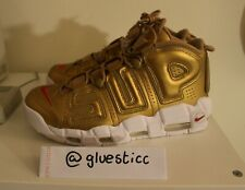 Supreme X Nike More Uptempo - GOLD - BRAND NEW - US 9.5 - 100% AUTHENTIC