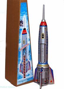 "Rocket Spaceship ""Skyexpress"" Tin Toy Spring Activated Large 15"" MS378"