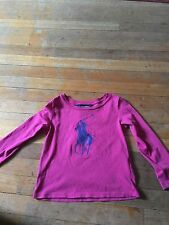 GIRLS AGE 2/2T RALPH LAUREN HOT PINK TOP WITH LARGE PONY SUMMER/PARTY RRP £50