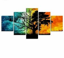 Framed Canvas Art Poster Painting Abstract Tree Frameless Mirrors Decoration New