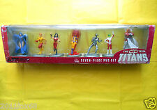 rare box the new teen titans pvc set collectibles wonder girl kid flash cyborg z