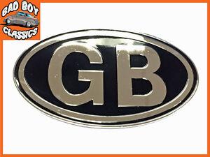 Metal GB Badge Emblem Self Adhesive Classic Car , Kit Car, Hot Rod