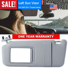 SUN VISOR LEFT DRIVER SIDE GRAY for 2007-2011 Toyota Camry WITHOUT SUNROOF US