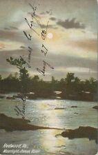 Redwood VA * Moonlight on James River  1907 * Franklin Co.  Rocky Mt.