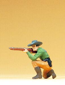 """Preiser 54801 Maßstab 1:25 Figur """"Cowboy kniend, mit Gewehr"""" #NEU in OVP#"""