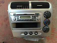 GENUINE HONDA CIVIC MK7 CD PLAYER COMPLETE WITH HEATER CONTROL TYPE R 2001-2006