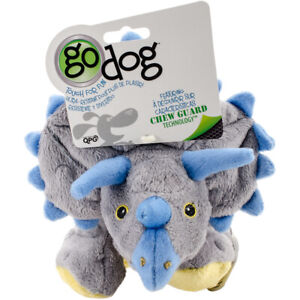goDog Dinos Frills with Chew Guard Large-Gray, 770795