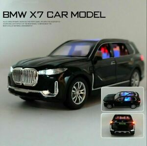 1/32 Model For BMW X7 Black Alloy Diecast Car & Sound Light Pull Back Kids Toy