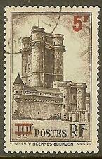 """FRANCE TIMBRE STAMP N° 491 """" DONJON VINCENNES 5F SUR 10F """" OBLITERE TB"""