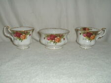 Royal Albert Old Country Roses Open Sugar Bowl & 2 Footed Coffee Cups