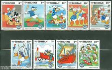 Bhutan Disney Donald Duck Scott#340/48 Set Mint Nh