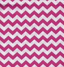 QUILT FABRIC: 100% COTTON, FLAMINGO PINK CHEVRON STRIPE,  CH-10, By The Yard