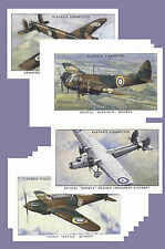 AEROPLANES OF THE ROYAL AIR FORCE (1938) - CIGARETTE CARD POSTCARD SET # 1