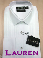 RALPH LAUREN ALL COTTON FRENCH Cuff Tuxedo Shirt 161/2- 17 Neck 32-33 FREE LINKS