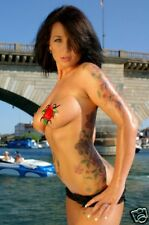 Pasties Tattoo look  Exotic Dancer beachwear goth sexy
