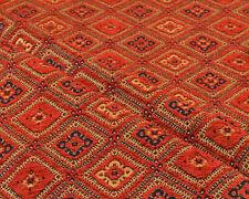 Ethnic fabric upholstery Kilim tapestry southwestern american textile orange