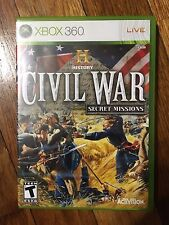 History: Civil War Secret Missions (Microsoft Xbox 360, 2008) Complete