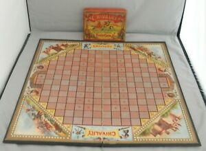 1888 ANTIQUE CHIVALRY THE GREATEST GAME OF SKILL GEO S PARKER BOARD GAME RARE