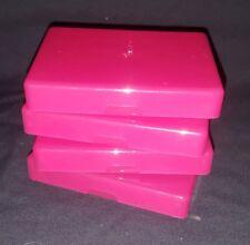 4 X Small Pink Craft / Diy Storage Boxes