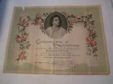 """1929 AND 1934 CERTIFICATE OF PROMOTION - FIRST METHODIST CHURCH 12"""" X 9"""" - RSS"""