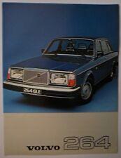 VOLVO 264 SALOONS 1977 UK Mkt Sales Leaflet Brochure - DL GLE