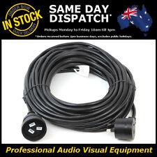 20 Metre Piggyback Power Extension Cable Lead Cord Black Piggy Back Plug 20M