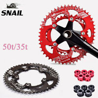 Road Bike Chainring 110BCD 50T/35T Double Oval Chain ring Fit Sram Shimano FSA