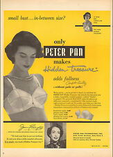 1950 vintage brassiere AD PETER PAN Hidden Treasure Bra for small busts 062717