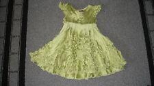 MELI MELI 4 4T GORGEOUS GREEN SILK RUFFLED DRESS