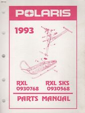 1993 POLARIS SNOWMOBILE RXL, RXL SKS  PARTS MANUAL 9912299 (143)