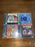 Sony Playstation 1 Video Game Lot - 4 Games - Bust-A-Move 99 And More!!!