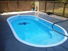 "Inground Fiberglass Swimming Pools 9X17X4'6"" Flat Bottom Color White $8,300"