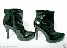 Zip Patent Leather Party Shoes for Women