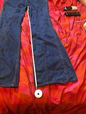 Red Snap Rockstar Bellbottom Flare Jeans Vtg Hippie 28 29 30 Retro Wide Leg M