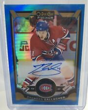 Brendan Gallagher 15-16 OPC Platinum Blue Rainbow auto