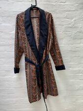 H40 Vintage 1970's Tootal Robe Dressing Gown Smocking Jacket Mens XL