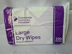 Large Patient Wipes - Strong and Absorbent - Personal/Patient Hygiene - Dry Wipe