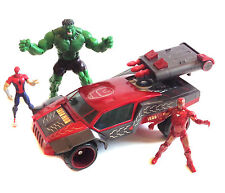 Marvel Universe Avengers Ironman vehículo con Spiderman & Hulk Figuras Set Lote